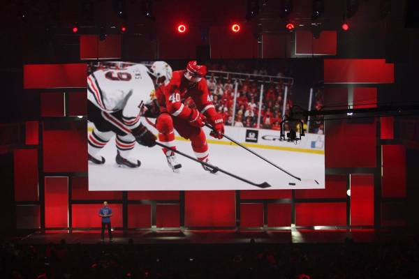 EA Sports Studio General Manager Dean Richards demonstrates NHL 15 at the EA World Premiere: E3 2014 Preview press ...