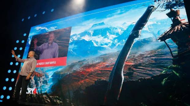 Executive Producer at Ubisoft Montreal Dan Hay introduces Far Cry 4 at the Ubisoft Media Briefing at E3 2014.