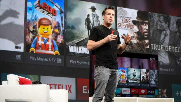 WATCH THIS: Dave Burke, director of engineering for Android, announces the Google TV at the Google I/O developers ...