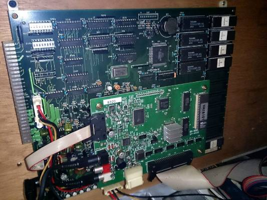 The circuit board of an arcade game discovered when a grandmother bought a building in Japan.
