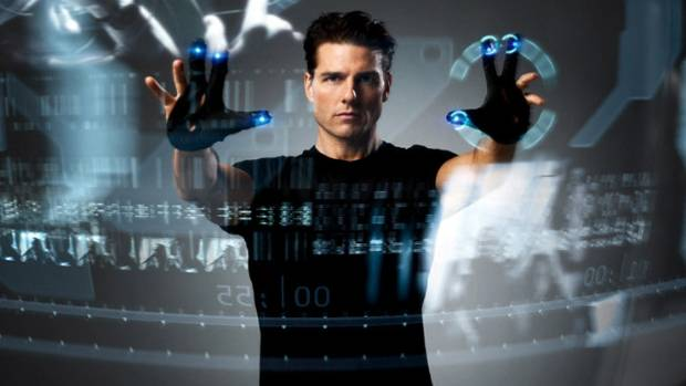 Tom Cruise's character used augmented reality technology to track criminals in the film Minority Report.
