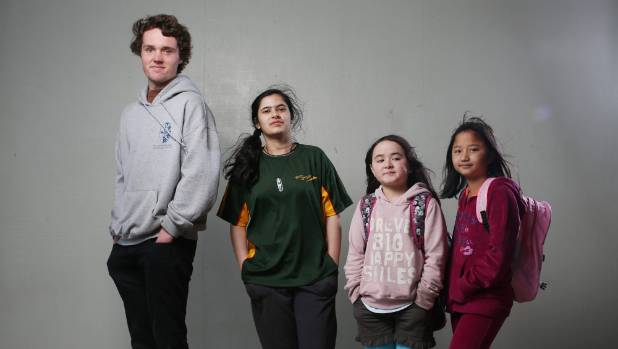 High school students Hunter Connon and Mrinali Kumar and primary school pupils Olivia Kelly and Rozy Hming are a glimpse at what today's school children are like, according to a recent children's census.
