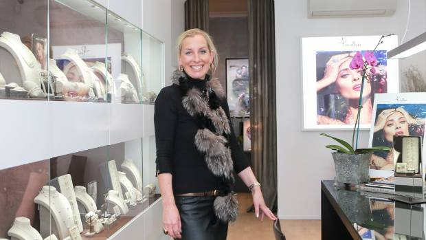 Sarah Hutchings, owner of Orsini Fine Jewellery, in her Parnell, Auckland, store.