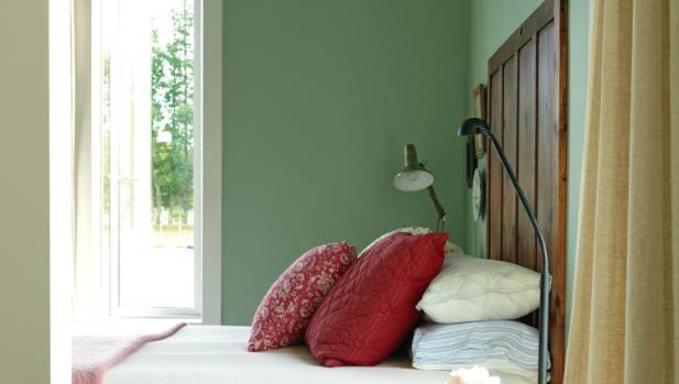 Light green bedrooms are a popular choice with buyers.