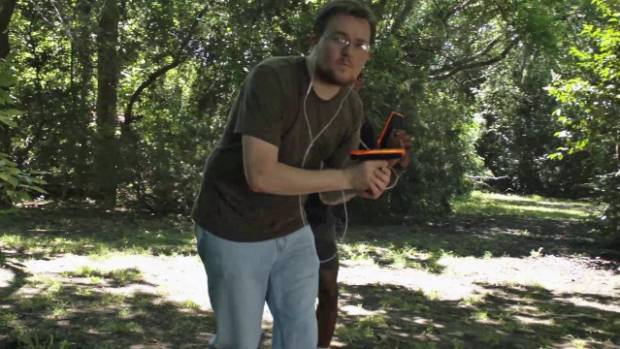 Image result for Inventor turns his laser tag game into anywhere, anytime iPhone sport