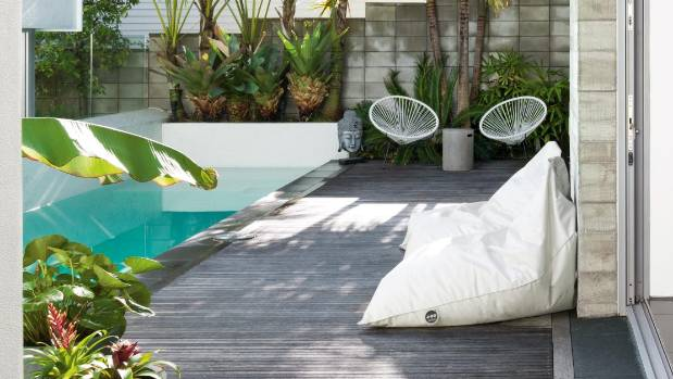Outdoor beanbags are perfect on a summer day: just make sure you can get out of them.